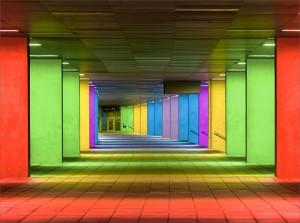 01 beleuchtete Arcaden Rotterdam