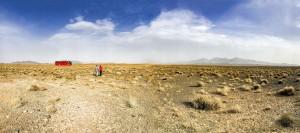 Im Bus durch die Wüste